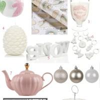 Décorations de Noël : pastelles et poudrées
