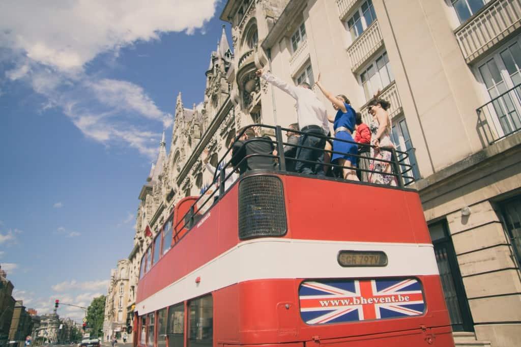 Mariage bus anglais