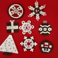 Décorations de Noel avec les perles à repasser Hama